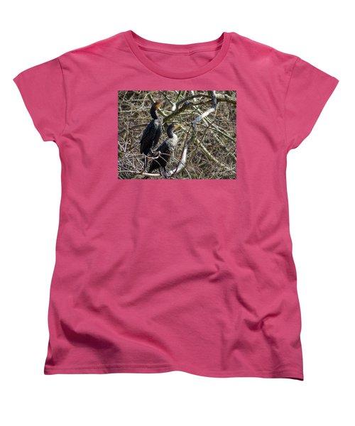 A Pair Of Cormorants Women's T-Shirt (Standard Cut) by Melissa Messick