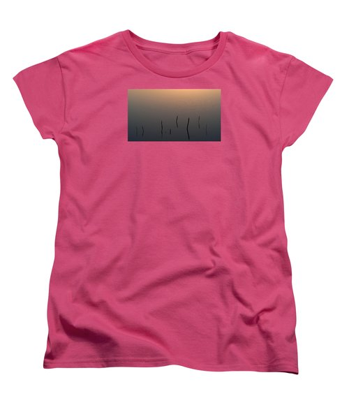 Women's T-Shirt (Standard Cut) featuring the photograph A Quiet Morning On The Ponds by Monte Stevens