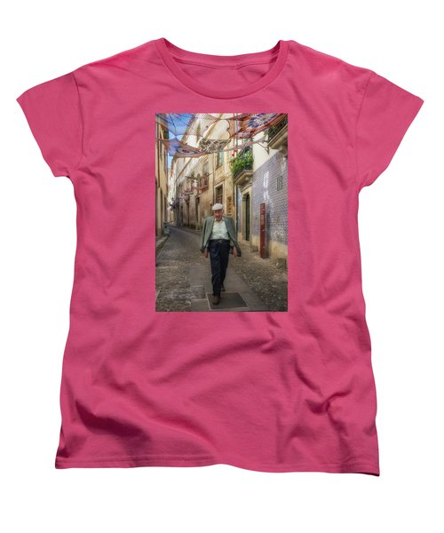 Women's T-Shirt (Standard Cut) featuring the photograph A Stoll In Coimbra by Patricia Schaefer