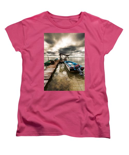 A Storm Brewing Women's T-Shirt (Standard Cut) by Lawrence Burry