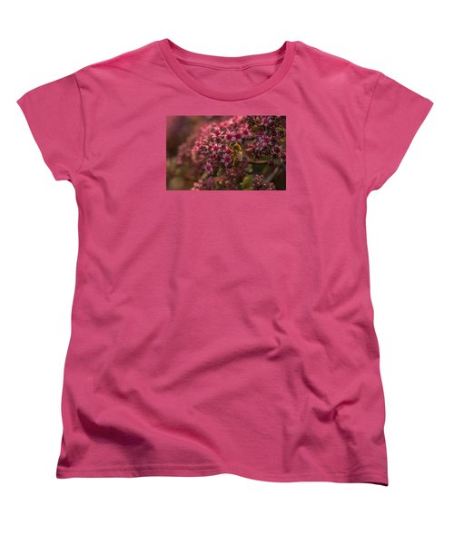 Women's T-Shirt (Standard Cut) featuring the photograph A Summer Bee by Yeates Photography