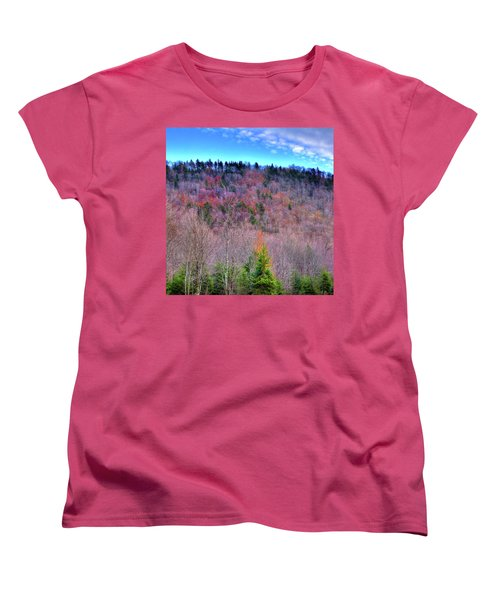 Women's T-Shirt (Standard Cut) featuring the photograph A Touch Of Autumn by David Patterson