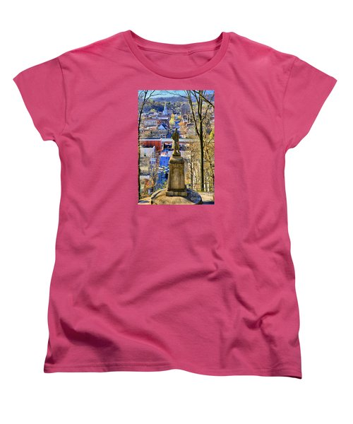 Women's T-Shirt (Standard Cut) featuring the photograph A View From College Hill by DJ Florek