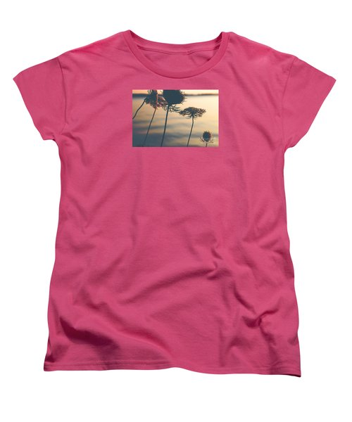 A Vintage Sunset Women's T-Shirt (Standard Cut) by Rebecca Davis
