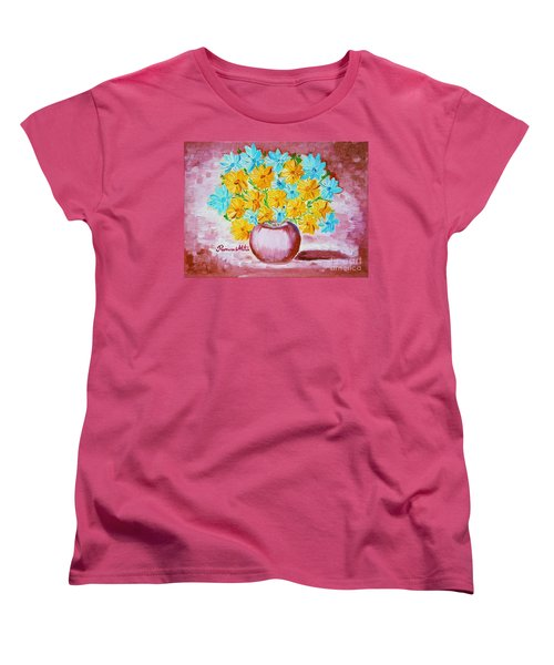A Whole Bunch Of Daisies Women's T-Shirt (Standard Cut) by Ramona Matei