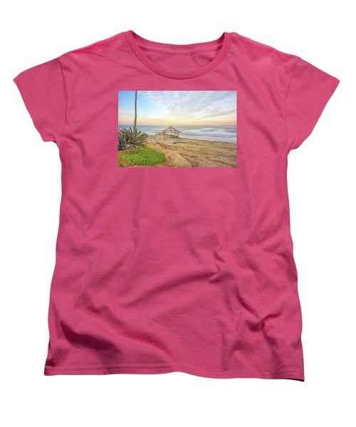 A Windansea Morning Women's T-Shirt (Standard Cut) by Joseph S Giacalone