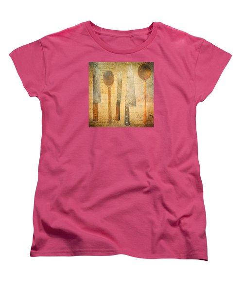 Women's T-Shirt (Standard Cut) featuring the digital art A Woman's Tools by Lisa Noneman
