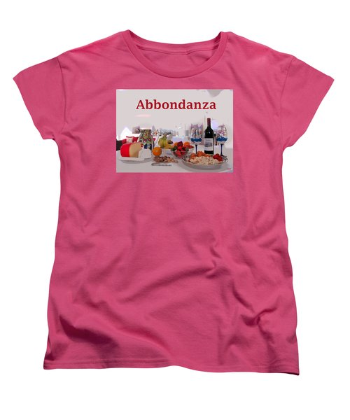 Women's T-Shirt (Standard Cut) featuring the mixed media Abbondanza by Charles Shoup