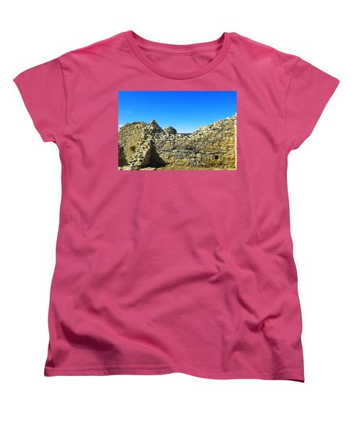 Women's T-Shirt (Standard Cut) featuring the photograph Abo Mission Ruins New Mexico by Jeff Swan