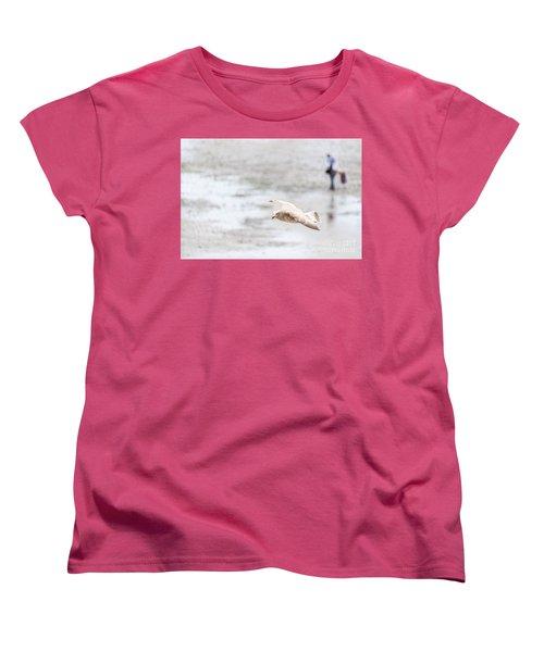Women's T-Shirt (Standard Cut) featuring the photograph Above The Watten Sea 2 by Hannes Cmarits