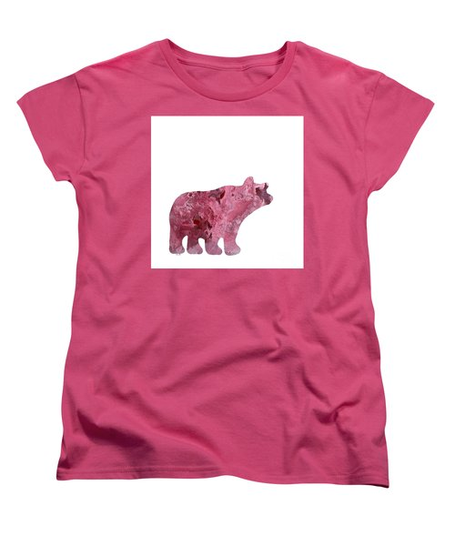Abstract Acrylic Painting Bear Women's T-Shirt (Standard Cut) by Saribelle Rodriguez