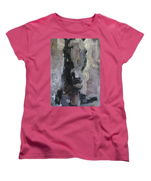 Women's T-Shirt (Standard Cut) featuring the painting Abstract Horse Painting by Robert Joyner