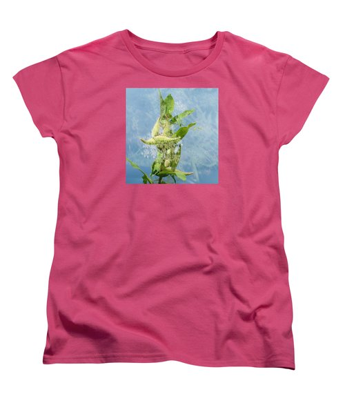 Abstract Milkweed Women's T-Shirt (Standard Cut) by Jeanette Oberholtzer