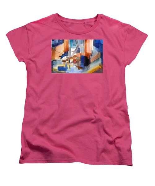 Abstract- Peggy's Cove Women's T-Shirt (Standard Cut) by Larry Hamilton