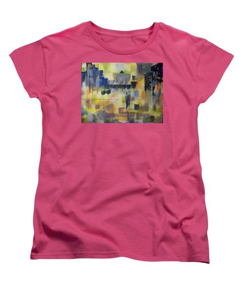Abstract Stroll Women's T-Shirt (Standard Cut) by Raymond Doward