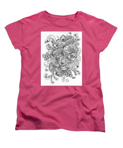 Abstract2 Women's T-Shirt (Standard Cut) by Quwatha Valentine