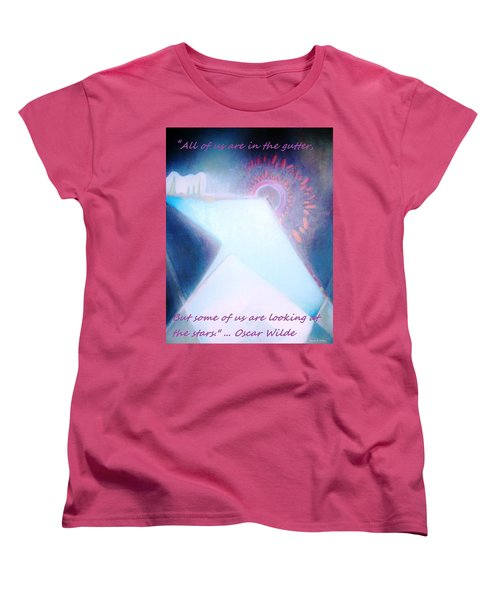 Women's T-Shirt (Standard Cut) featuring the painting Act Of Creation by Denise Fulmer