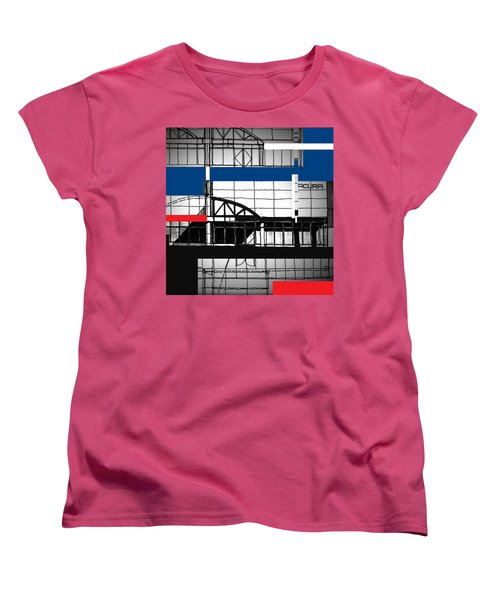 Women's T-Shirt (Standard Cut) featuring the mixed media Acura Study by Andrew Drozdowicz