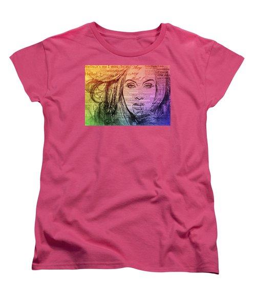 Adele Hello Typography  Women's T-Shirt (Standard Cut) by Dan Sproul