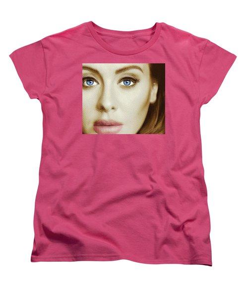 Adele Painting Circle Pattern 1 Women's T-Shirt (Standard Cut) by Tony Rubino