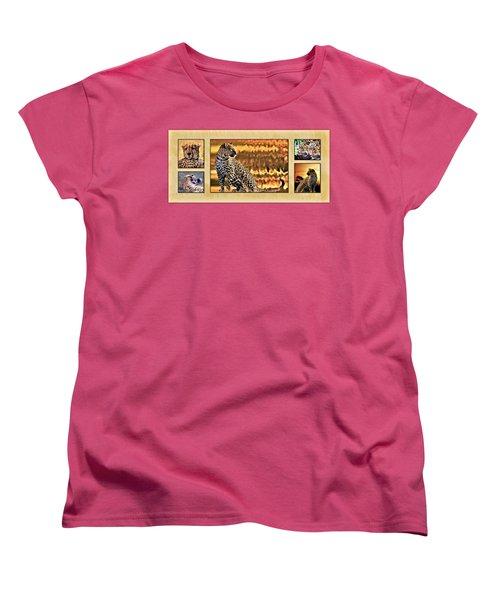 African Leopards And Cheetahs Women's T-Shirt (Standard Cut) by Mike Henniger Marilyn Alexander
