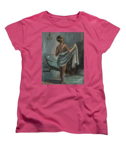 Women's T-Shirt (Standard Cut) featuring the painting After The Bath by Jennifer Beaudet