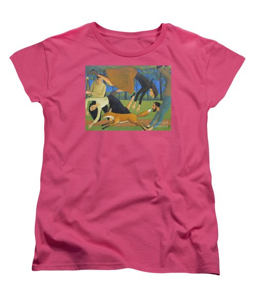 Women's T-Shirt (Standard Cut) featuring the painting After The Fox by Glenn Quist