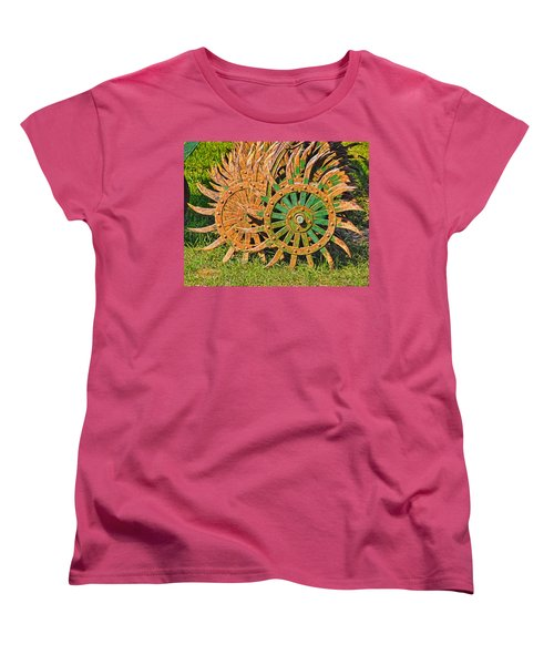 Women's T-Shirt (Standard Cut) featuring the photograph Ag Machinery Starburst by Trey Foerster