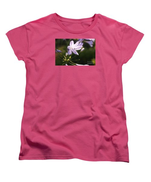 Agapanthus Women's T-Shirt (Standard Cut) by Cassandra Buckley