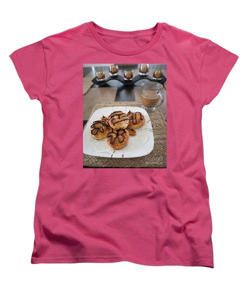 Air Fried  Donuts Women's T-Shirt (Standard Cut) by Anne Rodkin