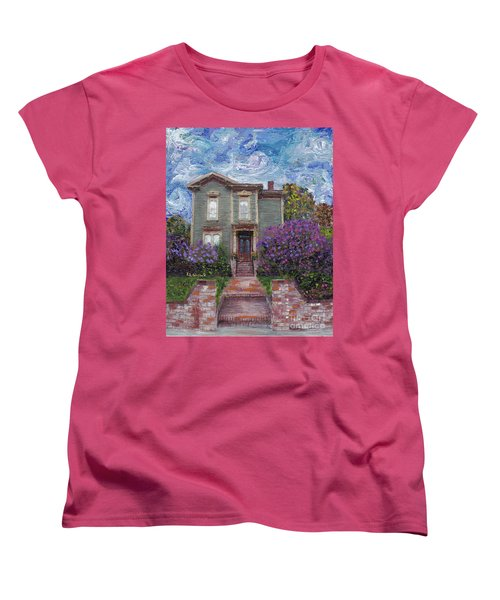 Alameda 1888 - Italianate Women's T-Shirt (Standard Cut) by Linda Weinstock