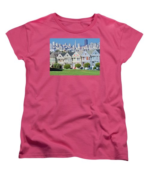 Women's T-Shirt (Standard Cut) featuring the photograph Alamo Square by Matthew Bamberg