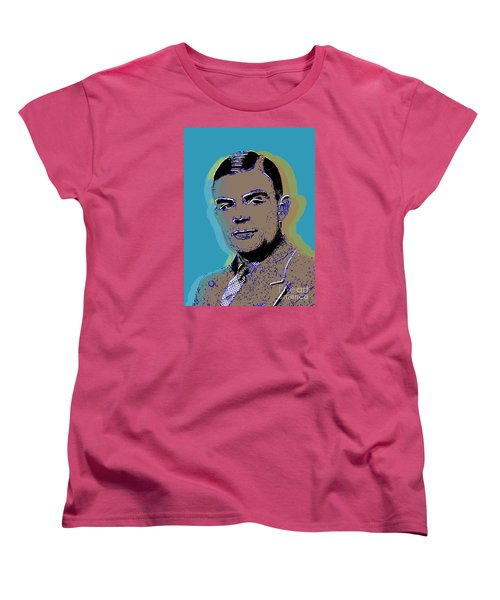 Women's T-Shirt (Standard Cut) featuring the digital art Alan Turing by Jean luc Comperat
