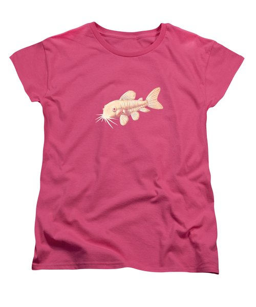 Albino Cory Catfish Women's T-Shirt (Standard Cut) by Lucy Niedbala