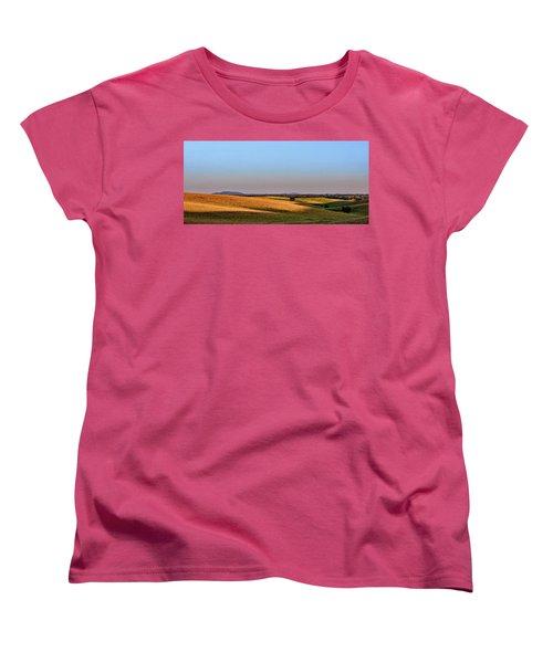 Women's T-Shirt (Standard Cut) featuring the photograph Alentejo Fields by Marion McCristall