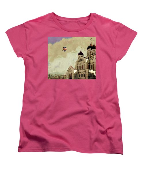 Alexander Nevsky Cathedral In Tallin, Estonia, My Memory. Women's T-Shirt (Standard Cut) by Jeff Burgess