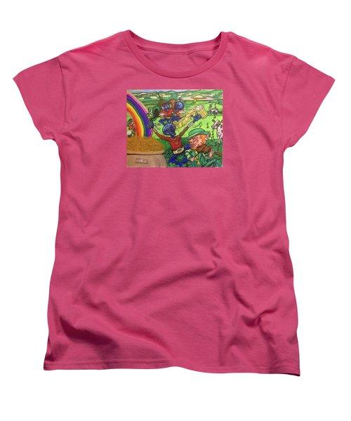 Women's T-Shirt (Standard Cut) featuring the painting Alien Go Bragh by Similar Alien