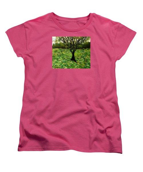All Around The Turmoil Women's T-Shirt (Standard Cut) by Lisa Aerts