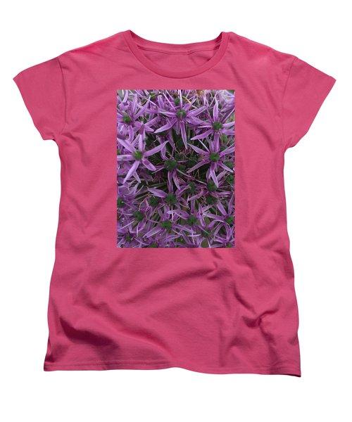 Allium Stars  Women's T-Shirt (Standard Cut) by Kathy Spall