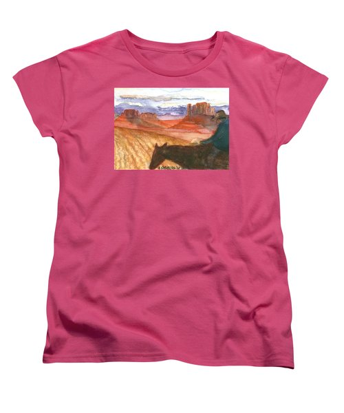 Women's T-Shirt (Standard Cut) featuring the painting Almost Home by Eric Samuelson