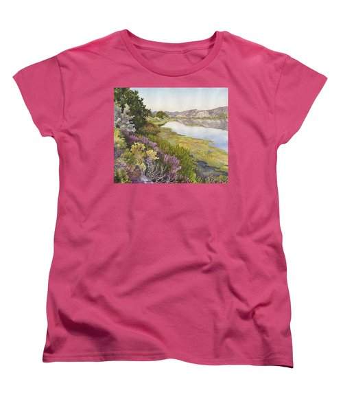 Women's T-Shirt (Standard Cut) featuring the painting Along The Oregon Trail by Anne Gifford