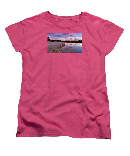 Along The Shoreline Women's T-Shirt (Standard Cut) by John Loreaux