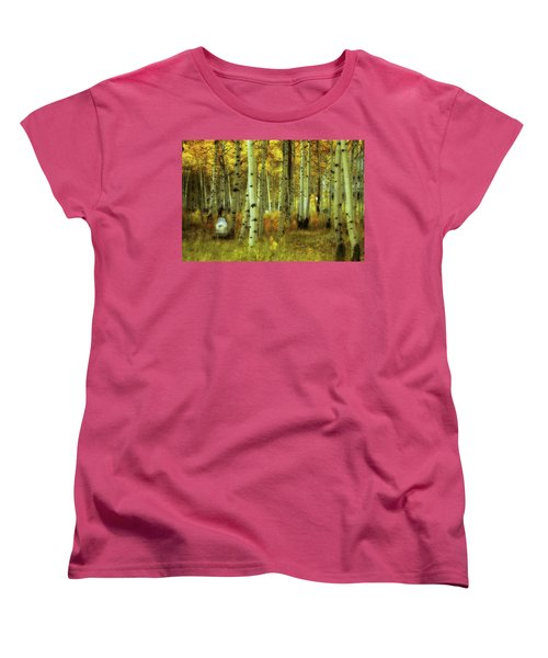 Women's T-Shirt (Standard Cut) featuring the photograph Alvarado Autumn 1 by Marie Leslie