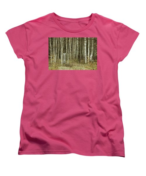 Women's T-Shirt (Standard Cut) featuring the photograph Alvarado Cemetery 42 by Marie Leslie