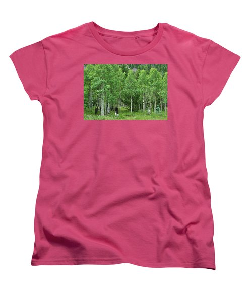 Women's T-Shirt (Standard Cut) featuring the photograph Alvarado Summer by Marie Leslie