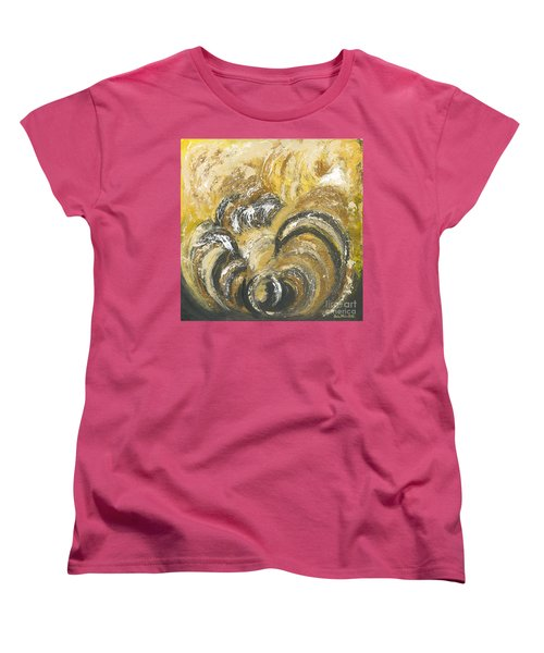 Women's T-Shirt (Standard Cut) featuring the painting Amber Is The Color Of Your Energy by Ania M Milo