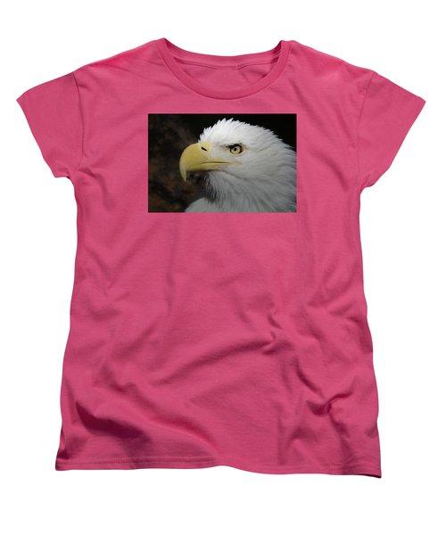 Women's T-Shirt (Standard Cut) featuring the digital art American Bald Eagle Portrait 2 by Ernie Echols