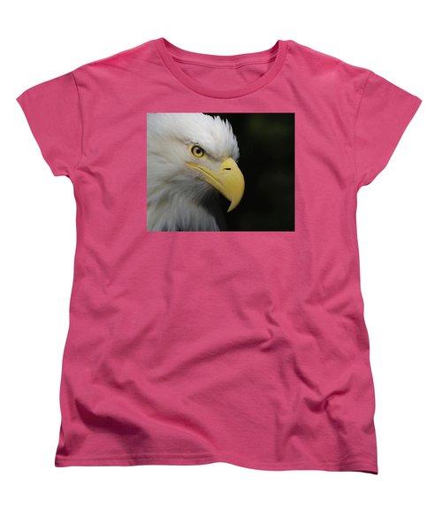 Women's T-Shirt (Standard Cut) featuring the digital art American Bald Eagle Portrait 4 by Ernie Echols