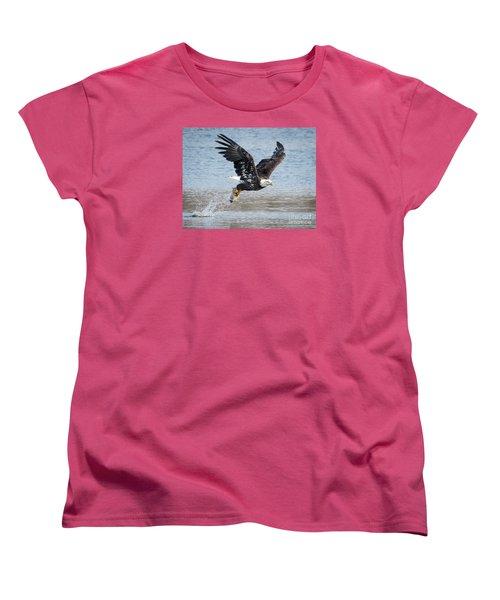 American Bald Eagle Taking Off Women's T-Shirt (Standard Cut) by Ricky L Jones
