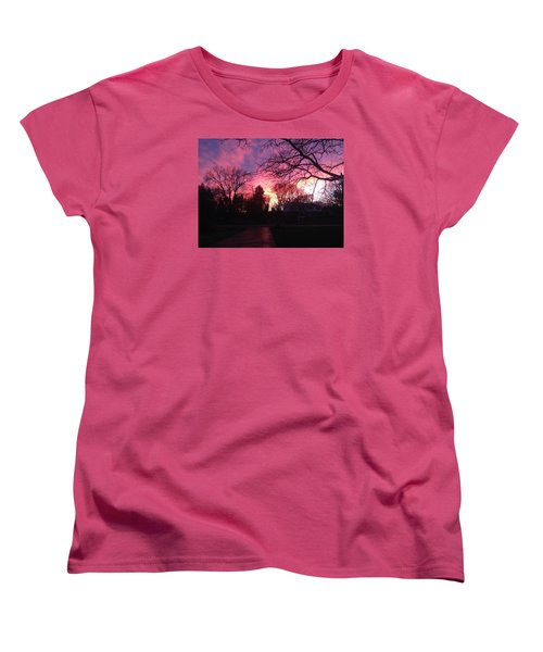 Amethyst Sunset Women's T-Shirt (Standard Cut) by Rebecca Wood